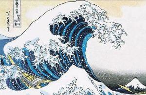 La gran ola de Kanagawa - Hokusai